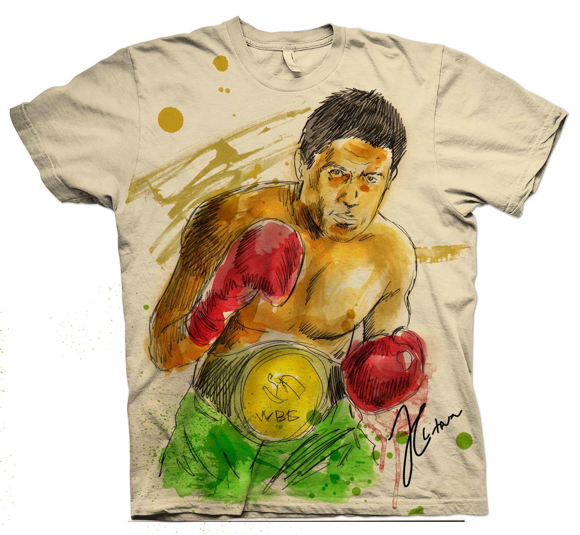 julio cesar chavez water color t shirt soboconcepts blog